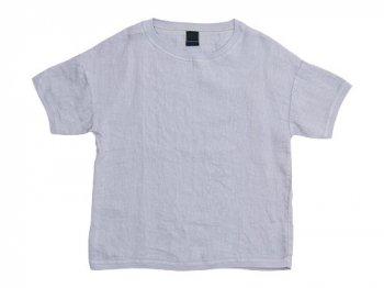 【別注】 maillot crew neck linen shirts T GRAY