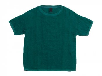 【別注】 maillot linen shirts T DARK GREEN