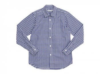 STANDART AT HAND Smith レギュラーカラーシャツ NAVY CHECK