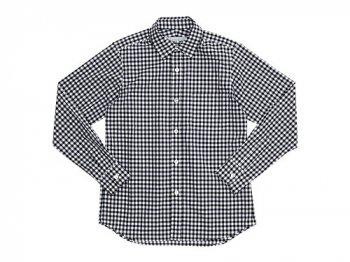 STANDART AT HAND Smith レギュラーカラーシャツ BLACK CHECK