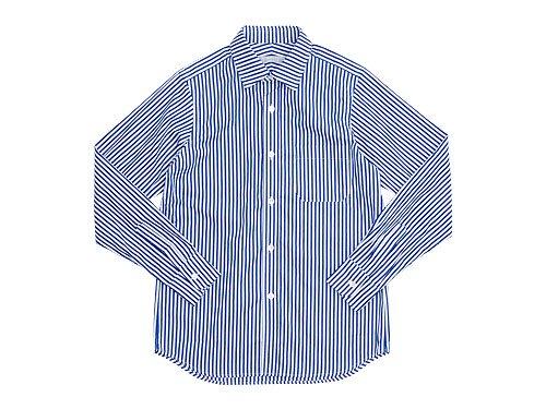 STANDART AT HAND Smith レギュラーカラーシャツ WIDE NAVY STRIPE