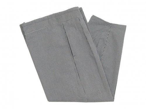Lin francais d'antan Barouh(バルー) Easy Pants WHITE x BLACK CHECK