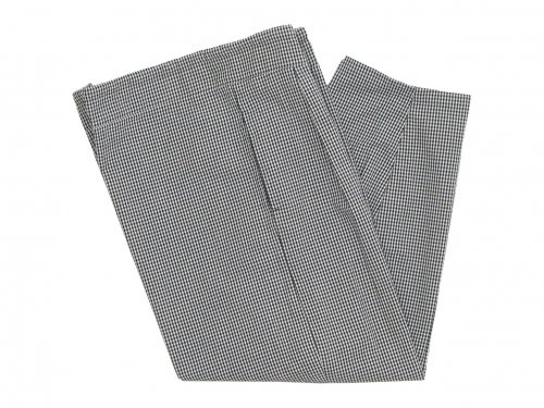 Lin francais d'antan Barouh(バルー) Easy Pants WHITE x BLACK CHECK