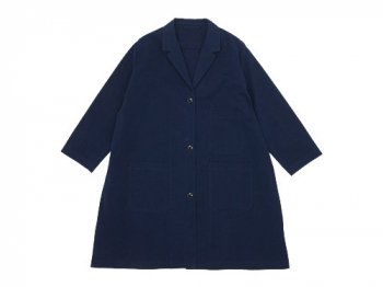 Lin francais d'antan Godard(ゴダール) Cotton Coat NAVY