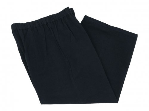 Lin francais d'antan Peyton Cotton wide pants BLACK
