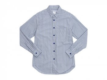 EEL 陶器釦のシャツ 16GRAY GINGHAM