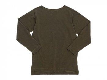 TATAMIZE Boatneck Shirt OLIVE