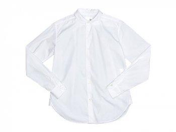 blanc round collar school shirts WHITE