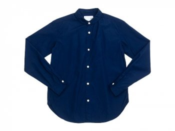 blanc round collar school shirts NAVY