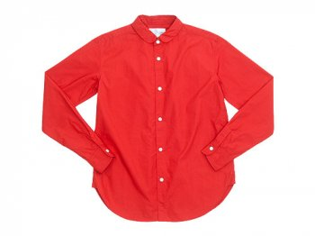 blanc round collar school shirts RED