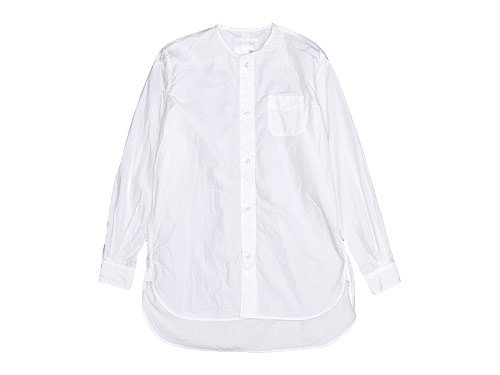 blanc no collar long shirts WHITE