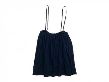 TOUJOURS Drawstring Suspender Skirt NAVY STRIPE