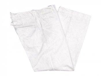 TOUJOURS Waist Overalls SMOKE WHITE