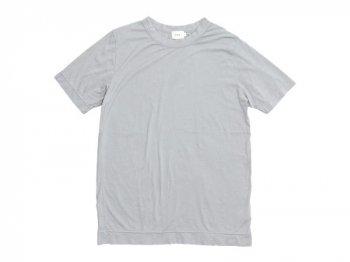 RINEN 100/2天竺 半袖ラウンドネックTシャツ 03ライトグレー〔メンズ〕
