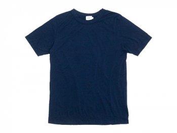 RINEN 100/2天竺 半袖ラウンドネックTシャツ 05ネイビー〔メンズ〕