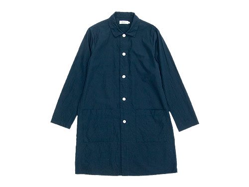 RINEN 100/2ブロード ロングシャツ 05ネイビー〔レディース〕