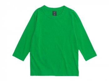 homspun 天竺七分袖Tシャツ グリーン