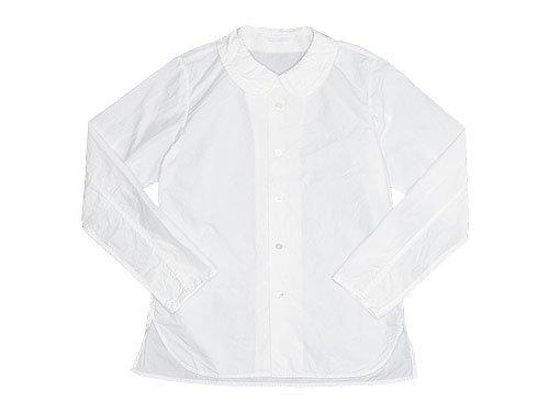 homspun 120/2タイプライター フラットカラー長袖ブラウス / Bigシャツ