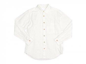 THE HINOKI リネンコットン Wポケットワークシャツ NATURAL