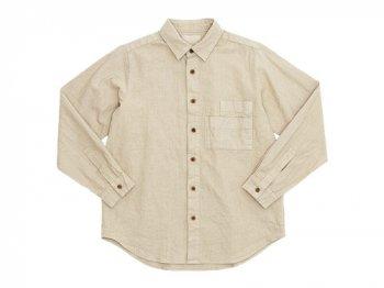 THE HINOKI リネンコットン Wポケットワークシャツ BEIGE