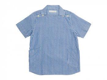 nisica 半袖デッキマンシャツ BLUE STRIPE