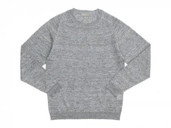 MARGARET HOWELL MELANGE LINEN KNIT 020GRAY 〔メンズ〕