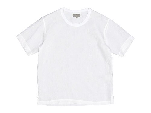MARGARET HOWELL SHIRTING LINEN T-SHIRTS 030WHITE 〔メンズ〕