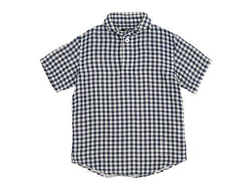 LOLO ギンガムコットン半袖プルオーバーシャツ