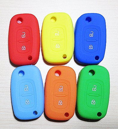 NEW!!ルノー・シリコンカバー・2ボタン・スイッチブレードキー用(全7色)