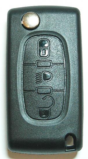 純正サイズ・プジョー/シトロエン・3ボタン・リモコンキー交換用ケースのみ(ライト・B)