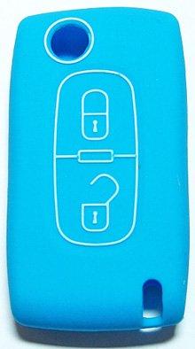 【C品】・プジョー/シトロエン・2ボタン・リモコンキー用 (Cタイプ・ライトブルー)