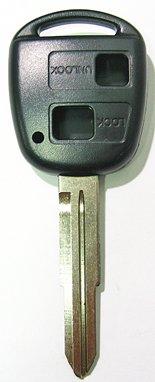 【キーカット込】ノンブランド・ダイハツ(OEM・トヨタ車)用・2ボタン・交換ケース/シェル作製(TOY41)