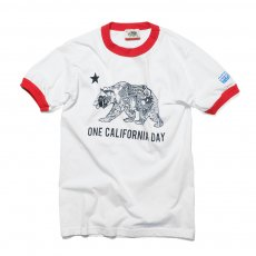 ONE CALIFORNIA DAY BEAR LOGO RINGER TEE