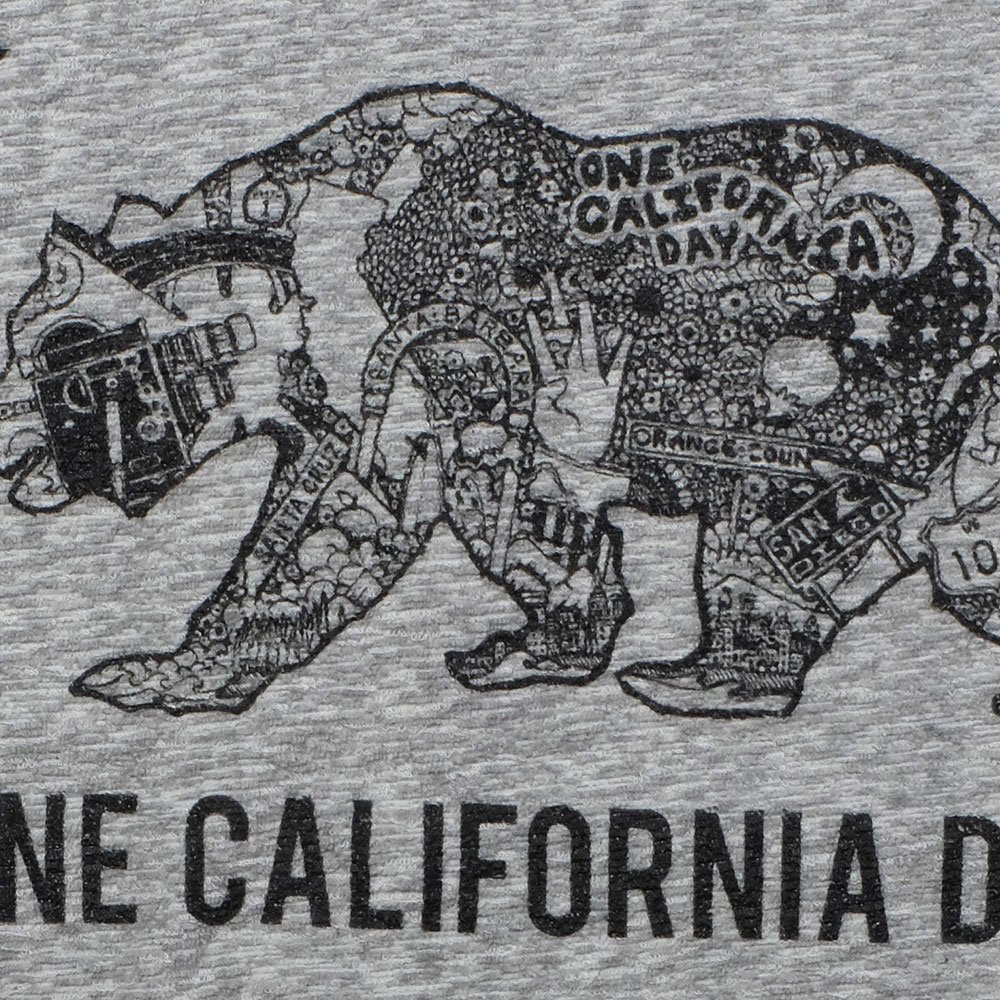 ベンデイビス ONE CALIFORNIA DAY PILE PRINT TEE (BEAR) 詳細画像4