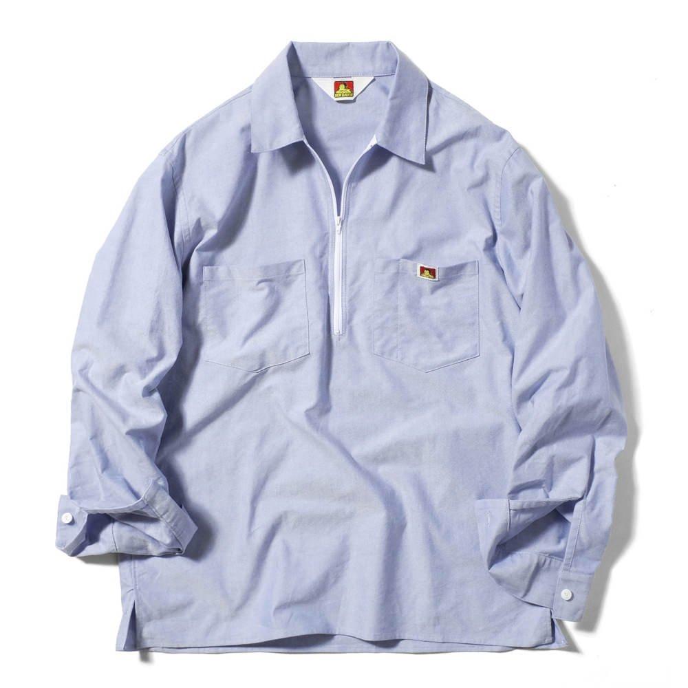 ベンデイビス 【HALF ZIP SHIRTS】オックスフォードハーフジップシャツ 詳細画像