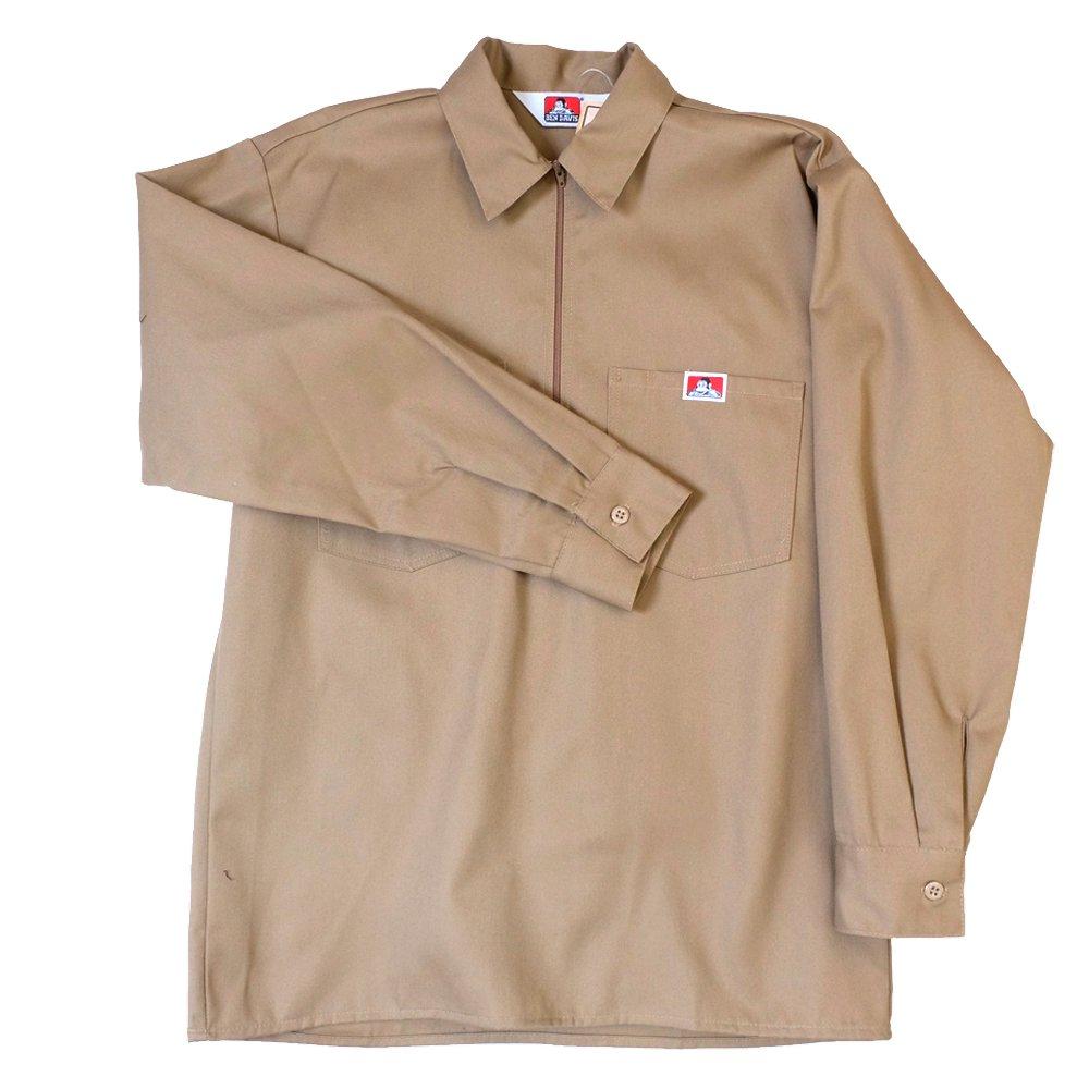 ベンデイビス BEN DAVIS USA【SOLID HALF ZIP L/S SHIRTS】ハーフジップシャツ長袖 詳細画像1