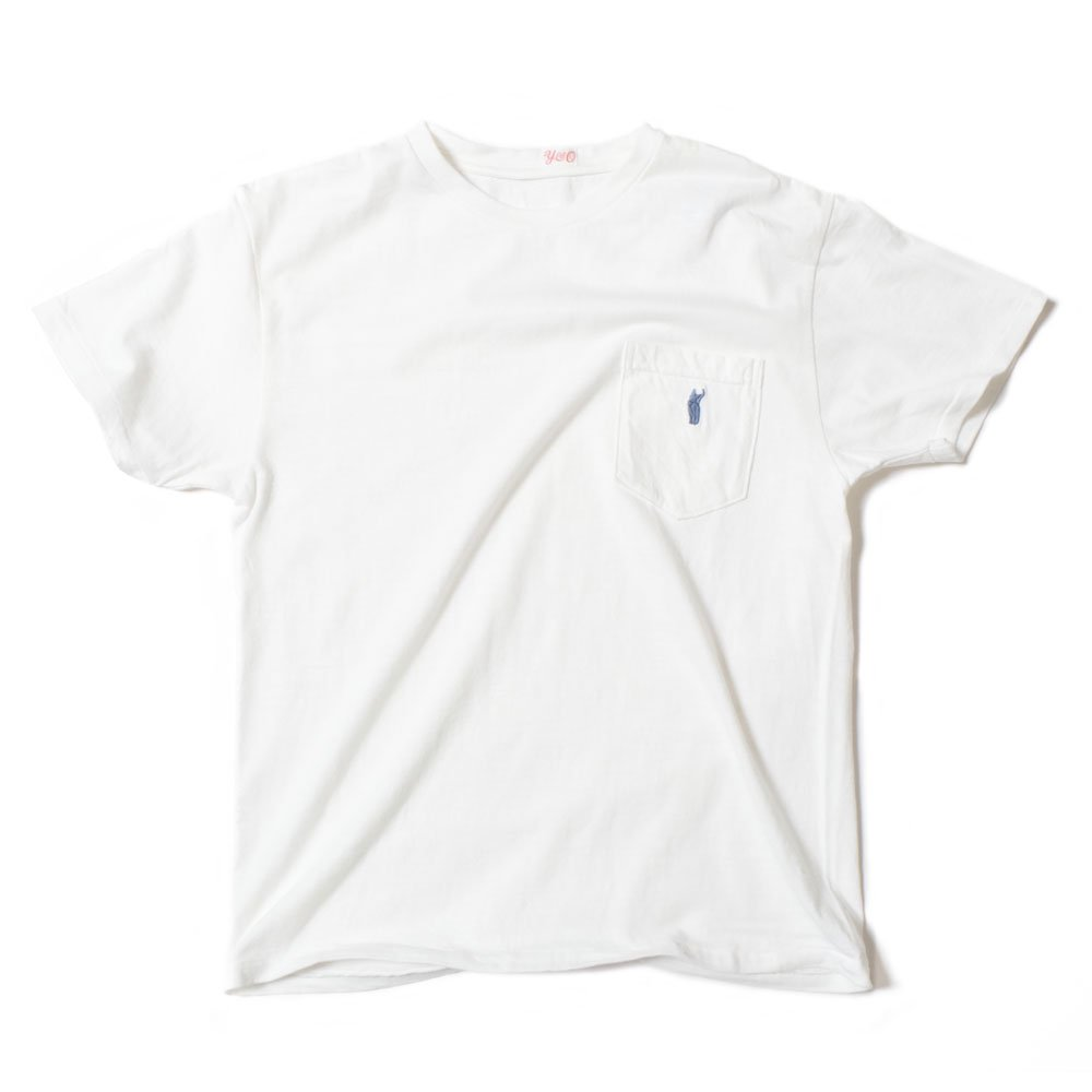 YOUNG & OLSEN The DRY GOODS STORE(ヤング&オルセン)‐ CAT POCKET HOOP TEE