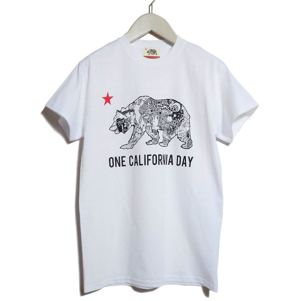 【ONE CALIFORNIA DAY - CAL BEAR PRINT TEE】- プリントTシャツ