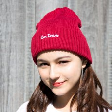 【EMBROIDERY KNIT CAP】コットンアクリルニットキャップ(刺繍)