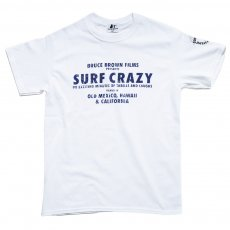 <img class='new_mark_img1' src='//img.shop-pro.jp/img/new/icons14.gif' style='border:none;display:inline;margin:0px;padding:0px;width:auto;' />BRUCE BROWN FILMS【SURF CRAZY】サーフクレイジーTシャツ