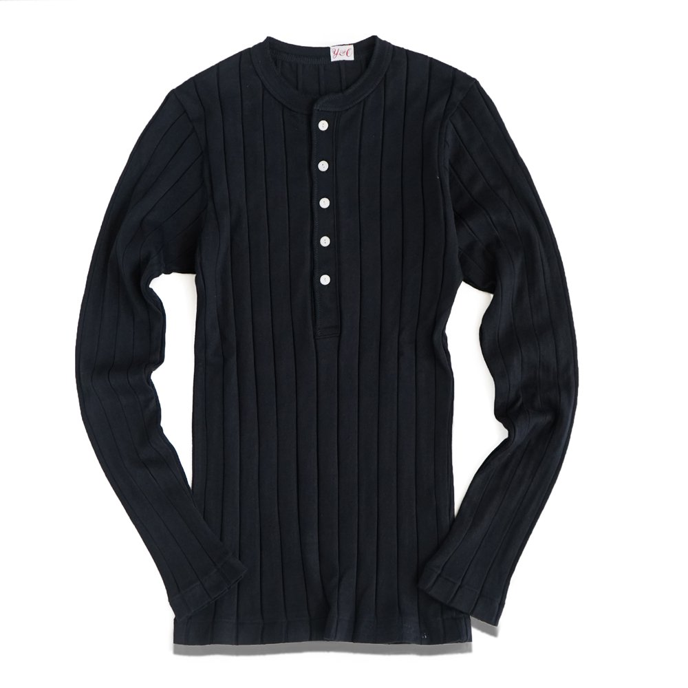 ベンデイビス YOUNG & OLSEN The DRY GOODS STORE(ヤング&オルセン)‐ BROAD RIB HENLEY NECK LS  詳細画像2