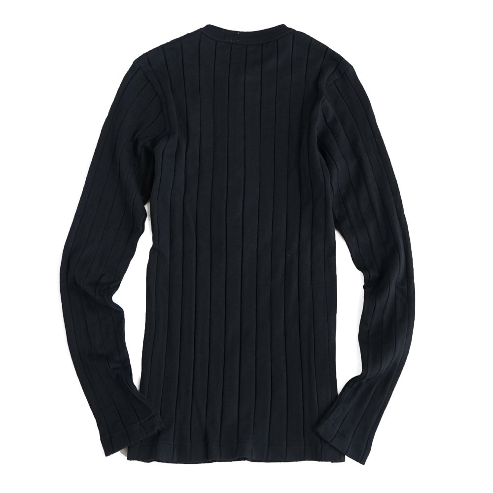 YOUNG & OLSEN The DRY GOODS STORE(ヤング&オルセン)‐ BROAD RIB HENLEY NECK LS