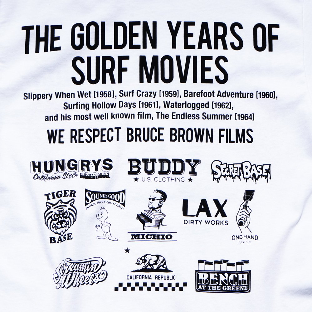 BRUCE BROWN FILMS【THE ENDLESS SUMMER】BUDDY別注Tシャツ