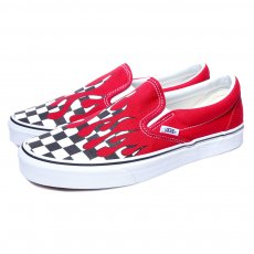 <img class='new_mark_img1' src='//img.shop-pro.jp/img/new/icons12.gif' style='border:none;display:inline;margin:0px;padding:0px;width:auto;' />VANS - UA SLIP-ON CHECKER FLAME スリッポン