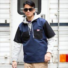 BEN DAVIS USA【2TONE COLOR HALF ZIP S/S SHIRTS】2トーンカラーハーフジップ半袖シャツ