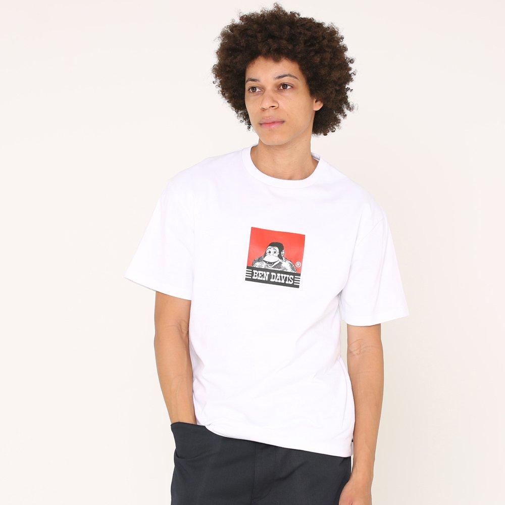 ベンデイビス 【SQUARE LOGO PRINT TEE】スクエアロゴプリントTシャツ(抗菌防臭) 詳細画像1