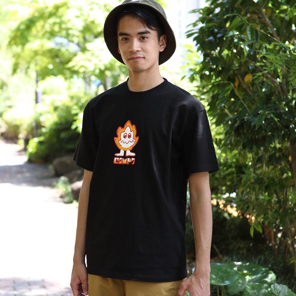 """ベンデイビス CAMP7【Naoki """"SAND"""" Yamamoto GRAPHIC S/S TEE】Naoki """"SAND"""" YamamotoグラフィックTシャツ(抗菌防臭・UVカット) 詳細画像4"""