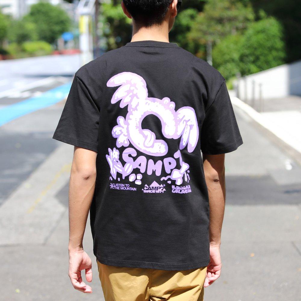 """ベンデイビス GO OUT 6月号掲載商品  CAMP7【Naoki """"SAND"""" Yamamoto GRAPHIC S/S TEE】グラフィックTシャツ(抗菌防臭・UVカット) 詳細画像3"""