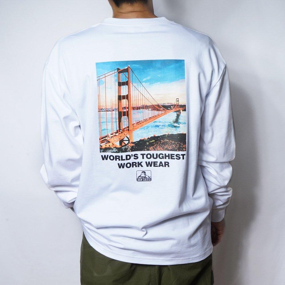 ベンデイビス 【Bridge photo LONG TEE】ブリッジフォト長袖Tシャツ 詳細画像3