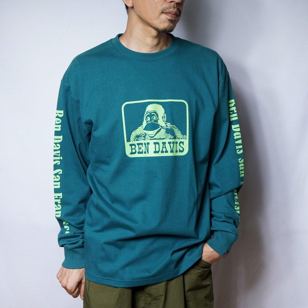ベンデイビス 【Logo PRINT LONG TEE】ロゴプリント長袖Tシャツ 詳細画像